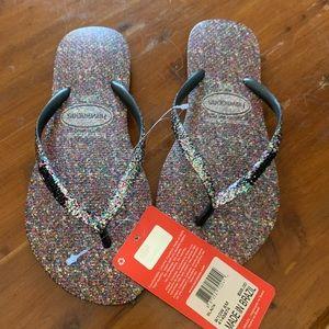 Women's Havaianas  Slim Carnaval Glitter Flipflops